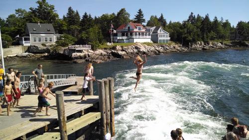Cliff Island Ferry Jump