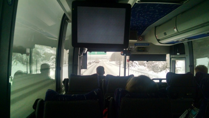 *white* knuckle bus ride to Logan